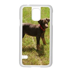 Red Doberman Puppy Samsung Galaxy S5 Case (White)