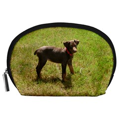 Red Doberman Puppy Accessory Pouches (Large)