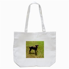 Red Doberman Puppy Tote Bag (White)