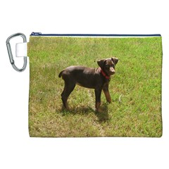 Red Doberman Puppy Canvas Cosmetic Bag (XXL)