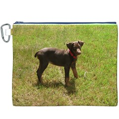 Red Doberman Puppy Canvas Cosmetic Bag (XXXL)