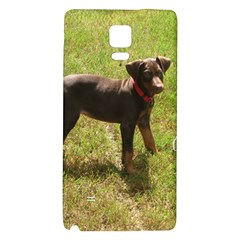 Red Doberman Puppy Galaxy Note 4 Back Case