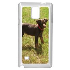 Red Doberman Puppy Samsung Galaxy Note 4 Case (White)
