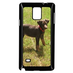 Red Doberman Puppy Samsung Galaxy Note 4 Case (Black)
