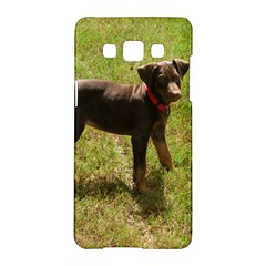 Red Doberman Puppy Samsung Galaxy A5 Hardshell Case