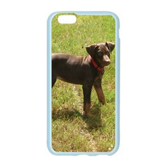 Red Doberman Puppy Apple Seamless iPhone 6/6S Case (Color)