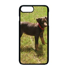 Red Doberman Puppy Apple iPhone 7 Plus Seamless Case (Black)