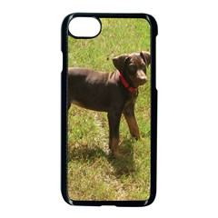 Red Doberman Puppy Apple iPhone 7 Seamless Case (Black)