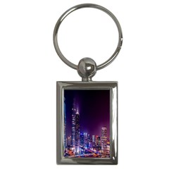 Raised Building Frame Key Chains (Rectangle)