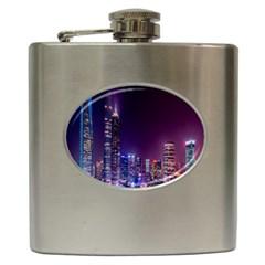 Raised Building Frame Hip Flask (6 Oz)