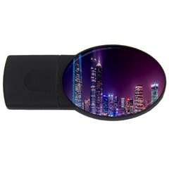Raised Building Frame USB Flash Drive Oval (2 GB)