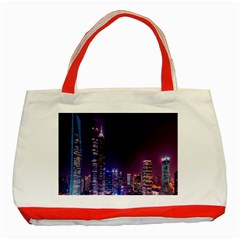 Raised Building Frame Classic Tote Bag (Red)