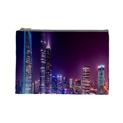 Raised Building Frame Cosmetic Bag (Large)