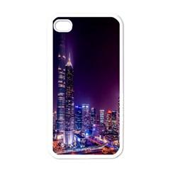 Raised Building Frame Apple iPhone 4 Case (White)