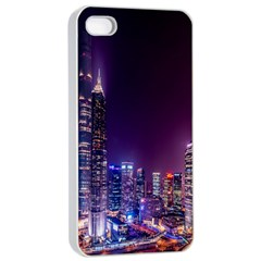 Raised Building Frame Apple iPhone 4/4s Seamless Case (White)