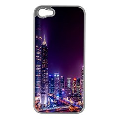 Raised Building Frame Apple iPhone 5 Case (Silver)