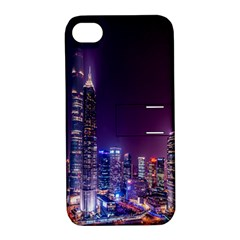 Raised Building Frame Apple Iphone 4/4s Hardshell Case With Stand