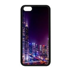 Raised Building Frame Apple iPhone 5C Seamless Case (Black)