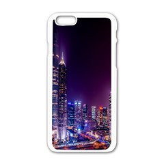 Raised Building Frame Apple iPhone 6/6S White Enamel Case