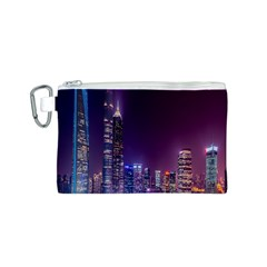 Raised Building Frame Canvas Cosmetic Bag (S)