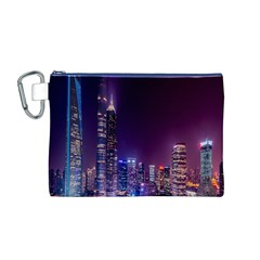 Raised Building Frame Canvas Cosmetic Bag (M)