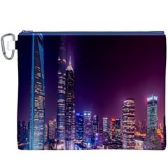Raised Building Frame Canvas Cosmetic Bag (XXXL)