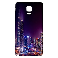 Raised Building Frame Galaxy Note 4 Back Case