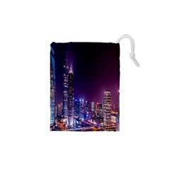 Raised Building Frame Drawstring Pouches (xs)