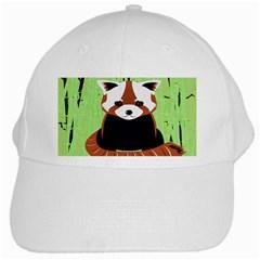 Red Panda Bamboo Firefox Animal White Cap