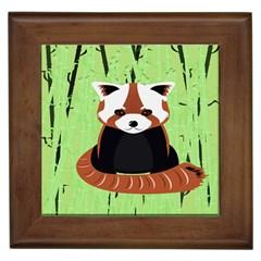 Red Panda Bamboo Firefox Animal Framed Tiles