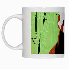 Red Panda Bamboo Firefox Animal White Mugs