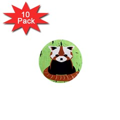 Red Panda Bamboo Firefox Animal 1  Mini Magnet (10 pack)