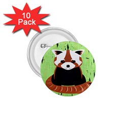 Red Panda Bamboo Firefox Animal 1.75  Buttons (10 pack)