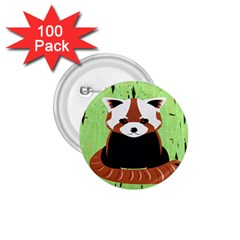 Red Panda Bamboo Firefox Animal 1.75  Buttons (100 pack)