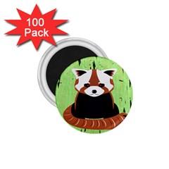 Red Panda Bamboo Firefox Animal 1.75  Magnets (100 pack)