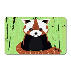 Red Panda Bamboo Firefox Animal Magnet (Rectangular)