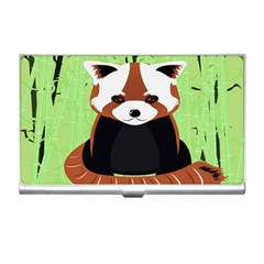 Red Panda Bamboo Firefox Animal Business Card Holders