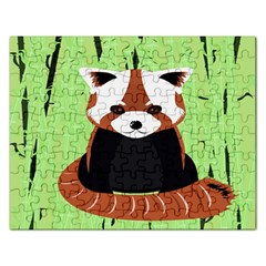 Red Panda Bamboo Firefox Animal Rectangular Jigsaw Puzzl