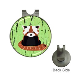 Red Panda Bamboo Firefox Animal Hat Clips with Golf Markers