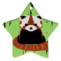 Red Panda Bamboo Firefox Animal Star Ornament (Two Sides)