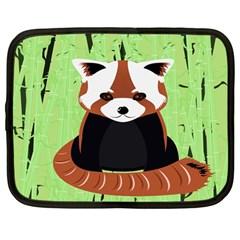 Red Panda Bamboo Firefox Animal Netbook Case (Large)