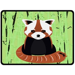 Red Panda Bamboo Firefox Animal Fleece Blanket (Large)