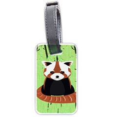 Red Panda Bamboo Firefox Animal Luggage Tags (Two Sides)