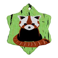 Red Panda Bamboo Firefox Animal Snowflake Ornament (two Sides)
