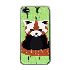Red Panda Bamboo Firefox Animal Apple iPhone 4 Case (Clear)