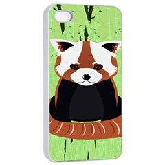 Red Panda Bamboo Firefox Animal Apple Iphone 4/4s Seamless Case (white)