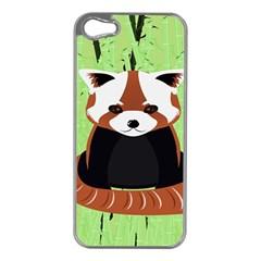 Red Panda Bamboo Firefox Animal Apple iPhone 5 Case (Silver)