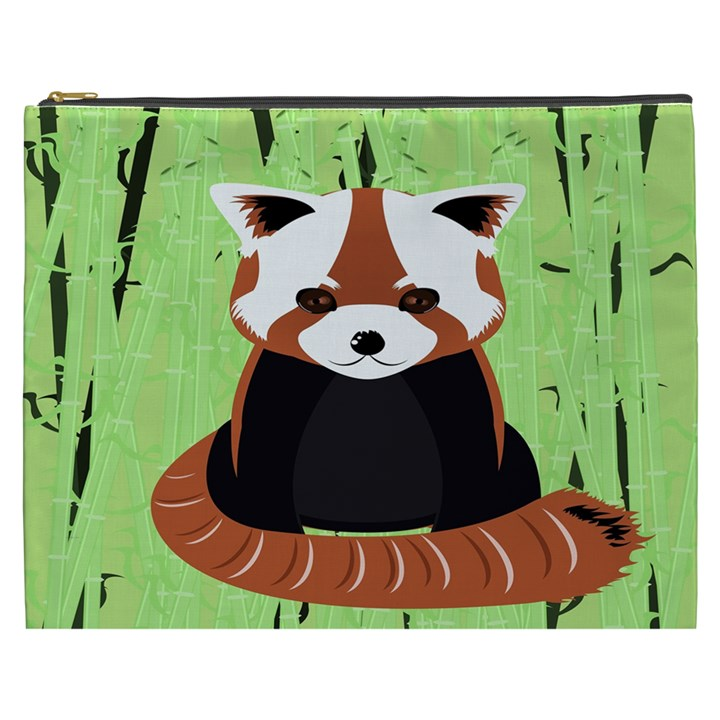 Red Panda Bamboo Firefox Animal Cosmetic Bag (XXXL)