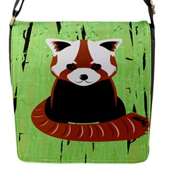 Red Panda Bamboo Firefox Animal Flap Messenger Bag (S)