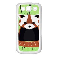 Red Panda Bamboo Firefox Animal Samsung Galaxy S3 Back Case (White)